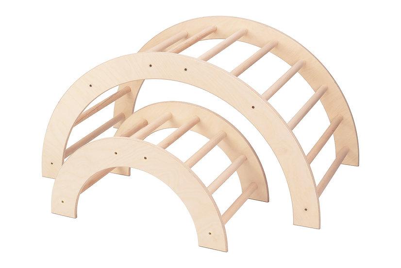 Kletterbogen / Bogenleiter, Zweier-Set, groß-klein