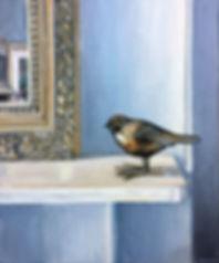 """""""Mirror, Mirror"""" oil painting by Kimberley Walker"""
