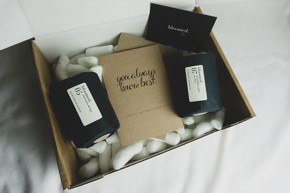 Mother's day fresh soy wax candle gift set