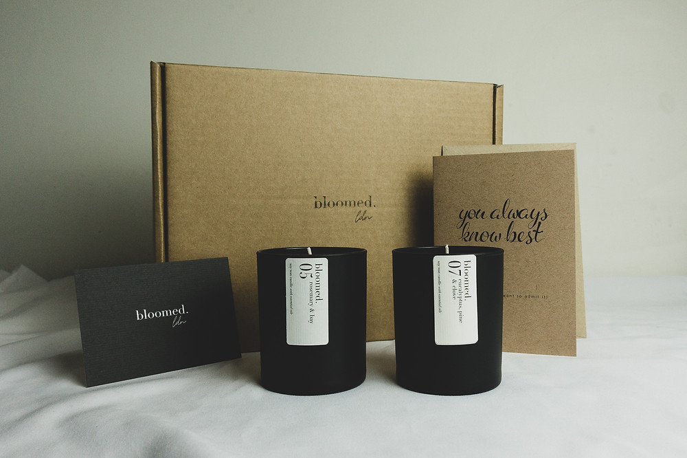 mother's day soy wax candle gift set