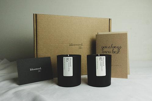 fresh botanicals soy wax candle gift bundle