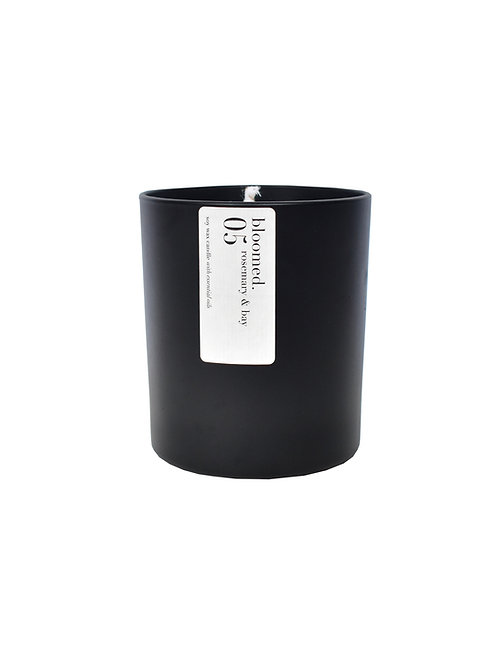 05 rosemary & bay soy wax candle