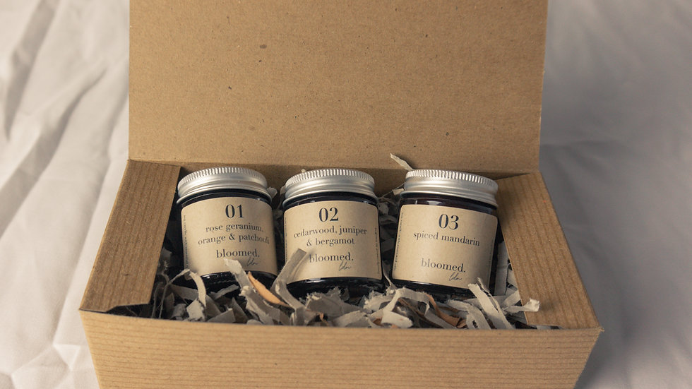 mini soy candle gift box