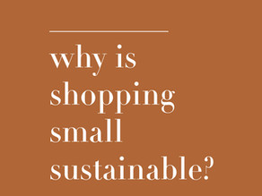 Five reasons shopping small is sustainable