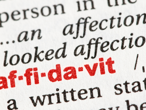 What Is an Affidavit and When are They Used?