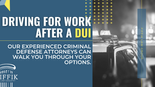 Getting To Work After A DUI
