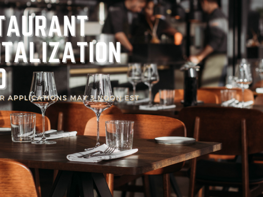 What a Relief! Restaurant Revitalization Fund Opens May 3