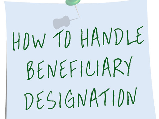 Account Beneficiary Do's and Don'ts