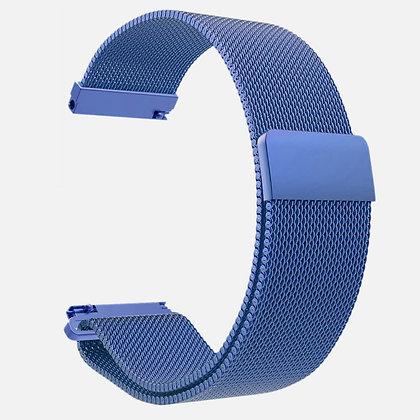 Bracelet magnétique à maille bleu