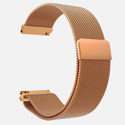 Bracelet magnétique à maille or rose