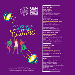 Flyer Open Culture | Manhattan Borough President