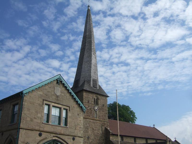 Cleobury's famous crooked spire