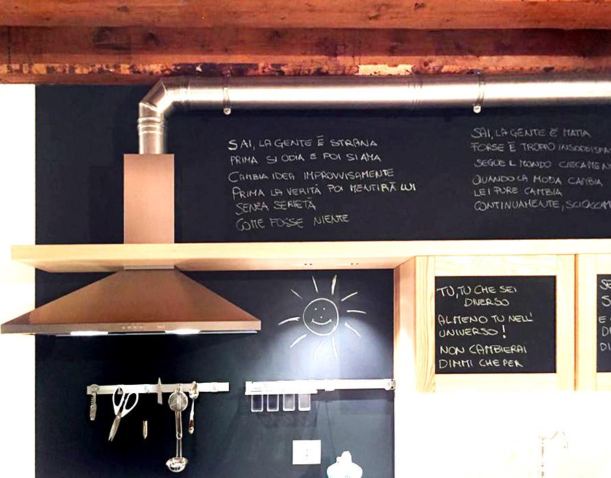 Cucina su misura - Vista dettaglio lavagna