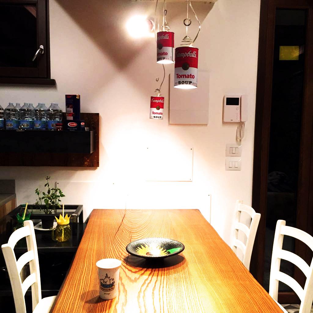Cucina su misura - Dettaglio piano rovere massello piano bouls