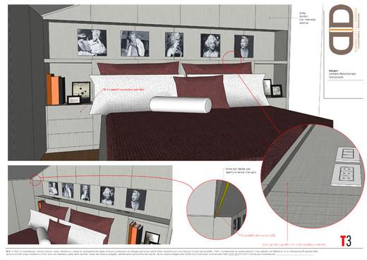 Camera da letto - armadio testiera