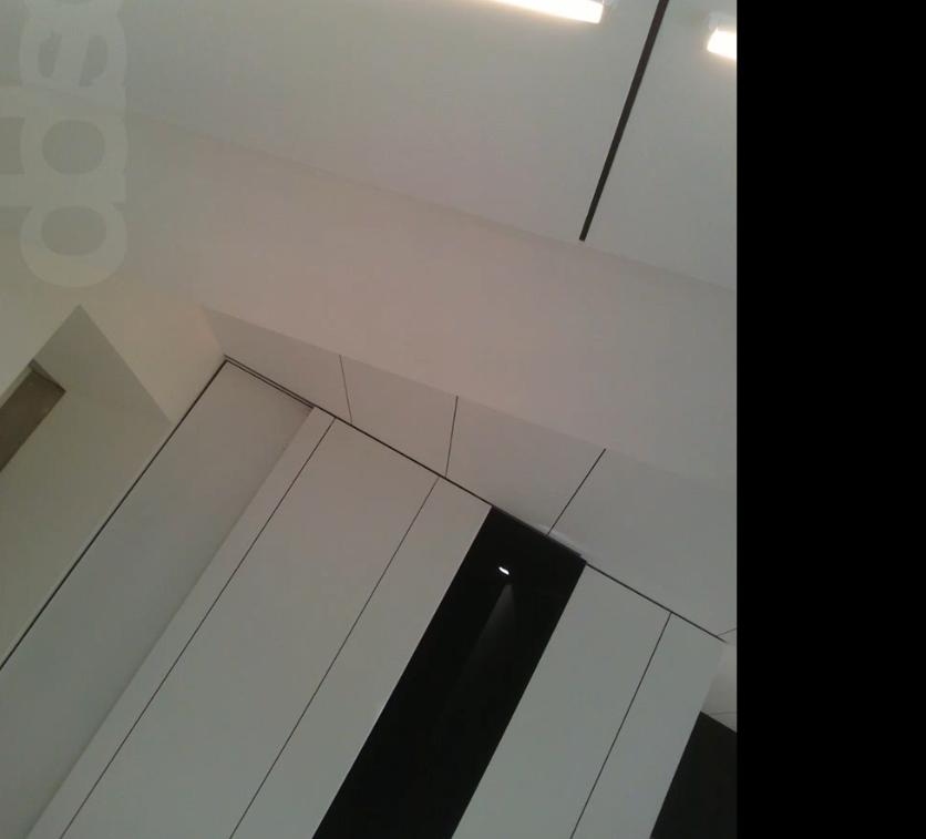 Particolare soffitto pareti verticali