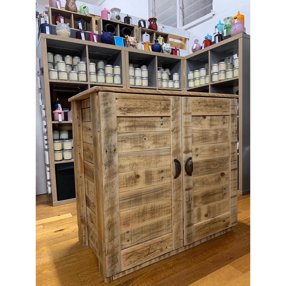 Upcycle Pallet 2 door cabinet