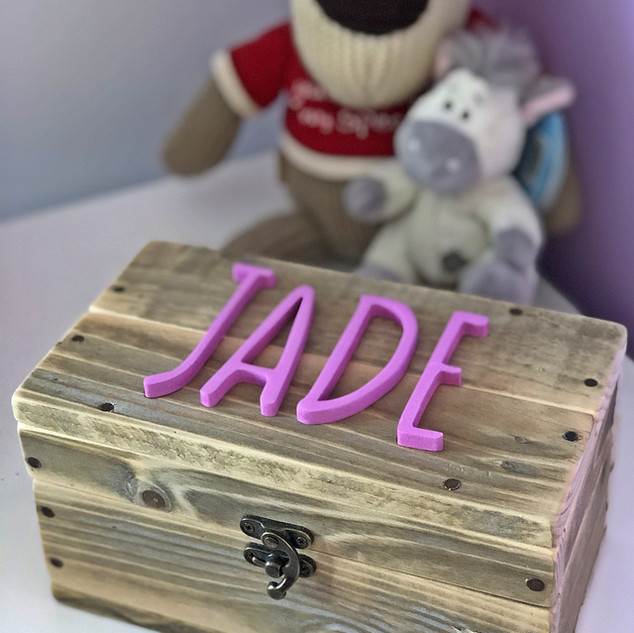 Upcycle Pallet Jewellery Box with custom name