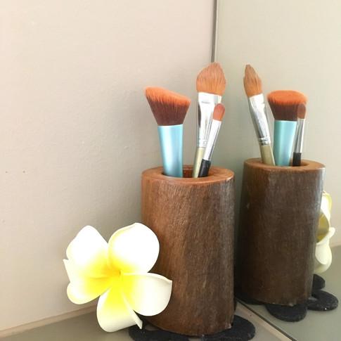 Upcycled Branch Makeup Brush Holder