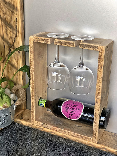 Wine Bottle and 2 Glass Holder