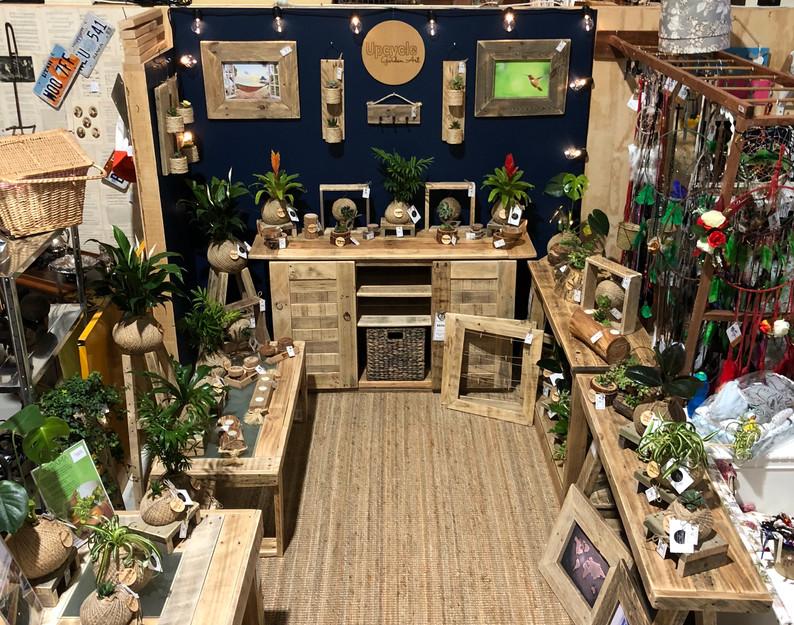 Upcycle Garden Art stall at Market Fair