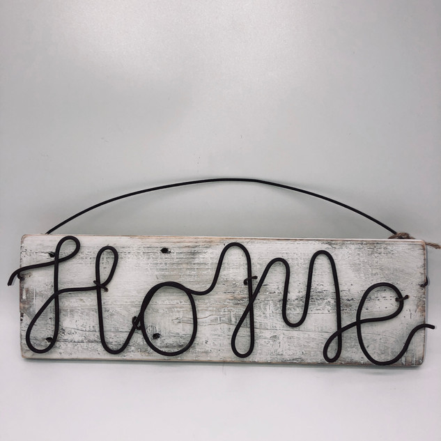 Home wire hanging sign