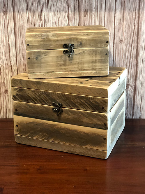 Upcycle Pallet Jewellery Box - Natural Finish
