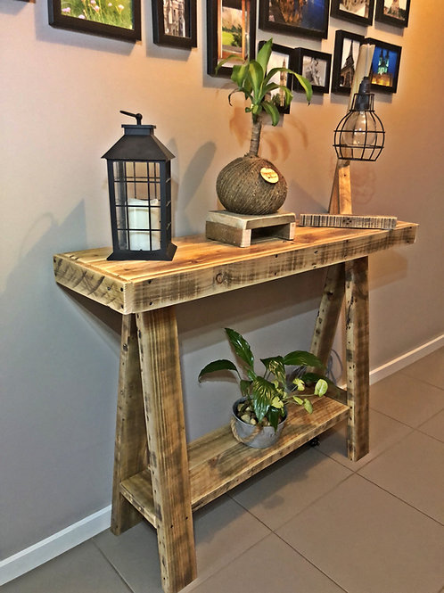 Upcycle Pallet 100cm Hallstand with shelf and A Frame Legs