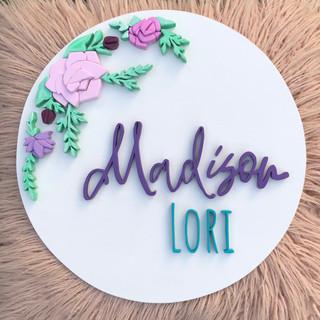Floral custom round