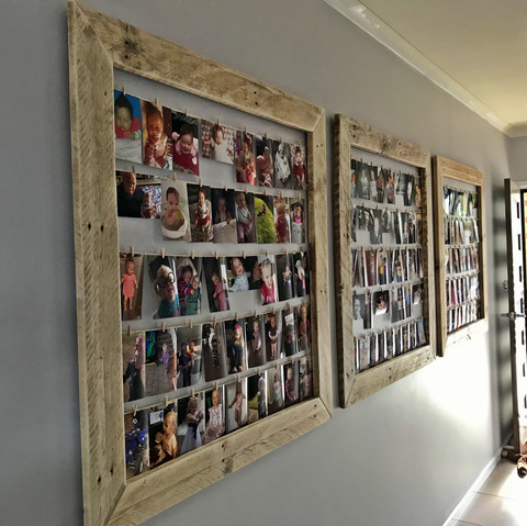 Upcycled Pallet Collage Photo Frames