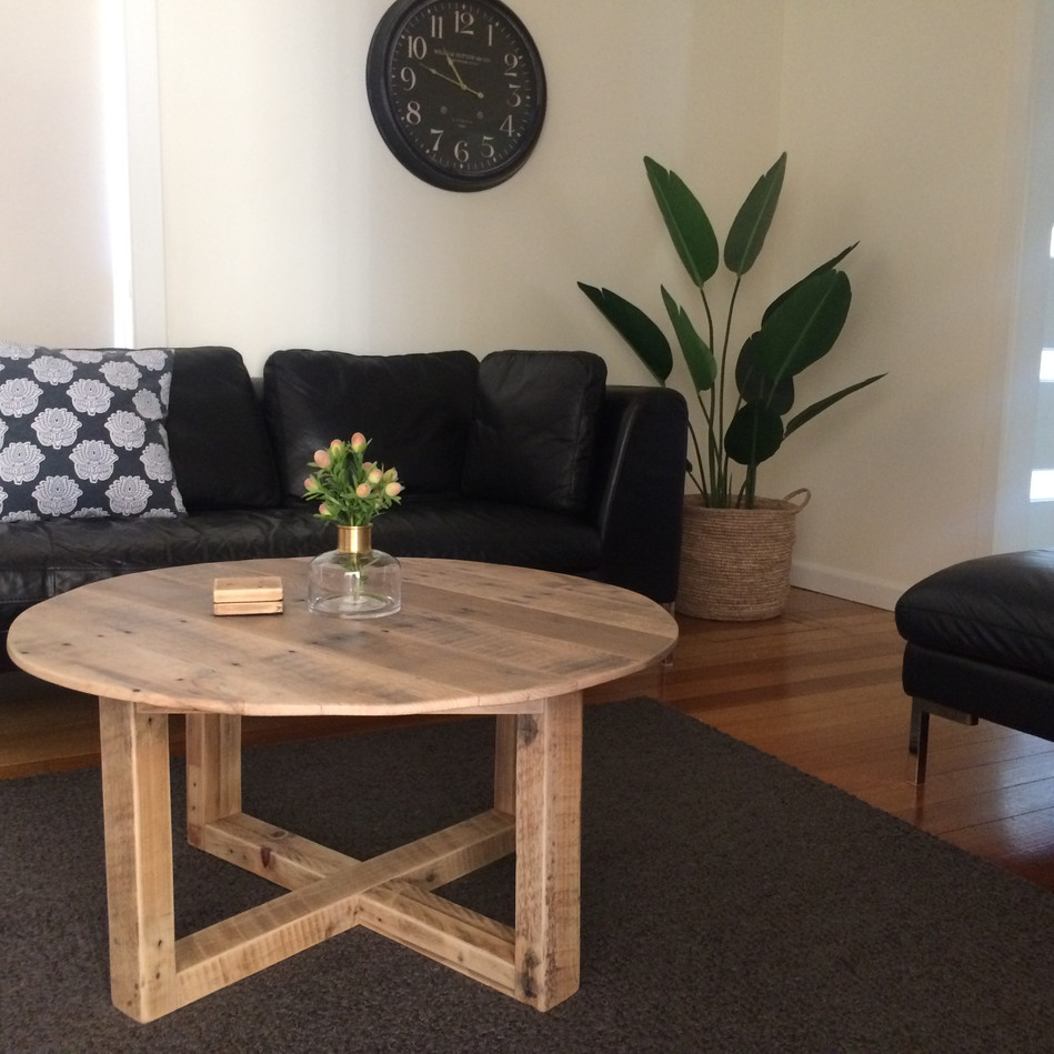 Circle Upcycled Pallet Coffee Table