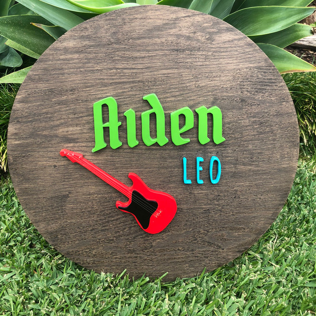 Custom sign Aiden