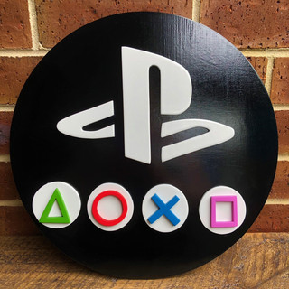 Playstation on black
