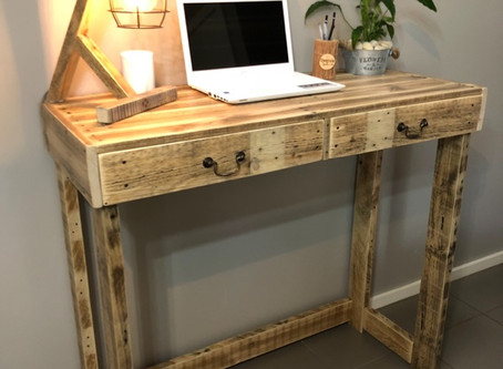 Upcycle Pallet Standing Desk Custom For The Tall Guy