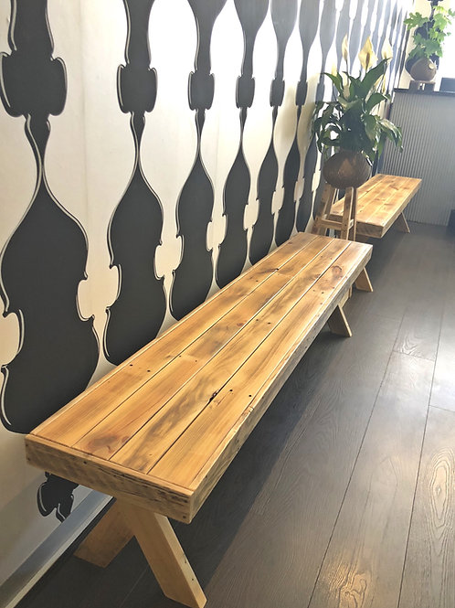 Upcycle Pallet Bench Seats