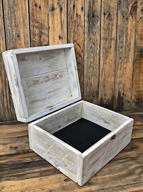 Upcycle Pallet Jewellery Box - White Wash