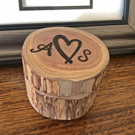 Upcycled Branch Ring Box