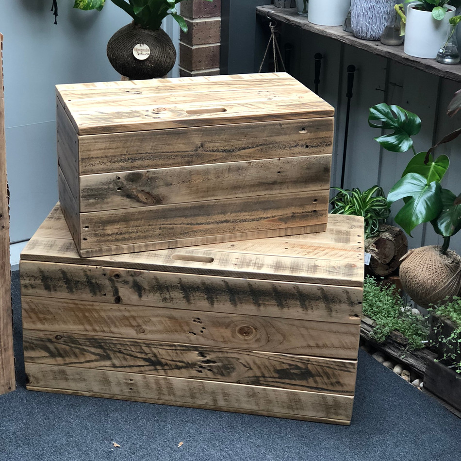 Upcycled Pallet Boot Box