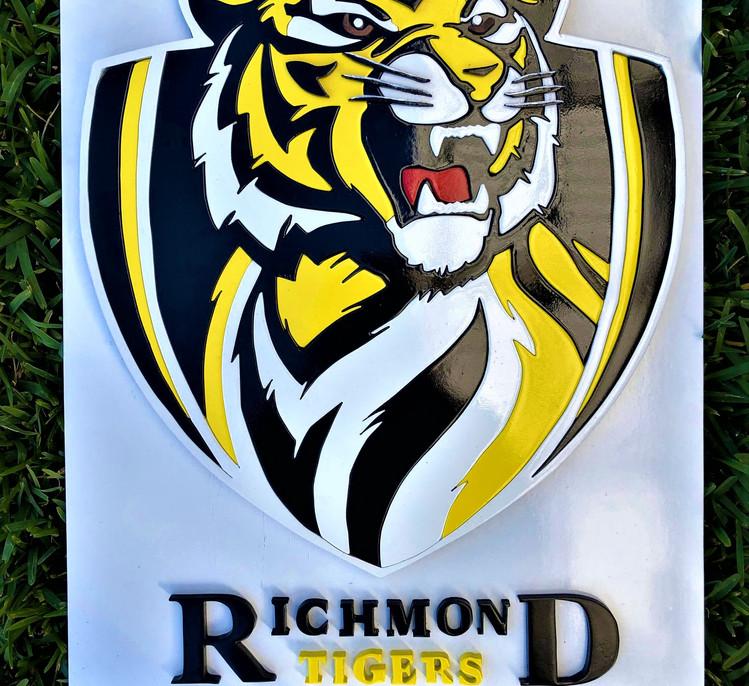 Richmond Football Club handmade 3D sign