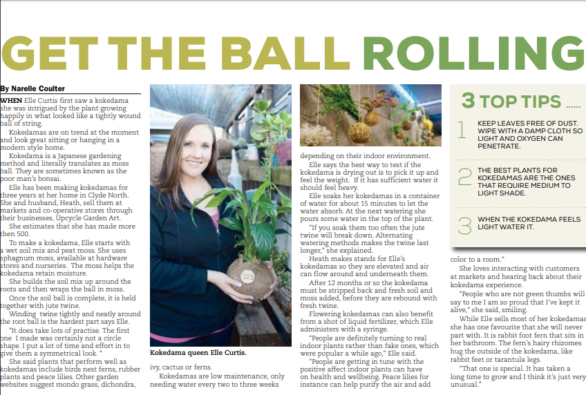 Elle Curtis from Upcycle Garden Artinterview about all things Kokedama