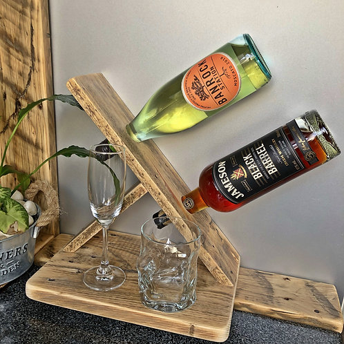 Double Spirit Bottle Holder with 2 tumblers