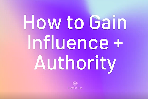 Prerecorded Webinar: How to Gain Influence and Authority in Astrology