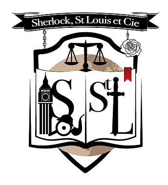 """Logo Accueil du Club Sherlock, st Louis et Cie - journal du Club """"de vous à nous"""""""