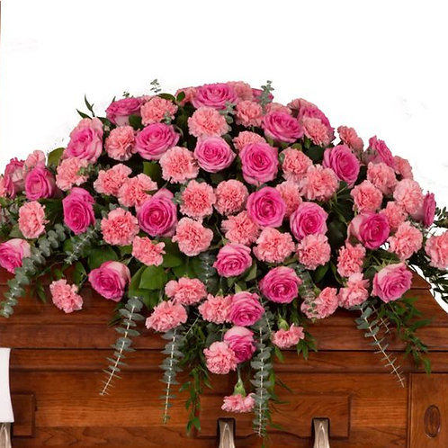 Rose + Carnation Casket Spray