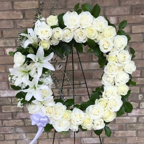 Rose + Lily Wreath
