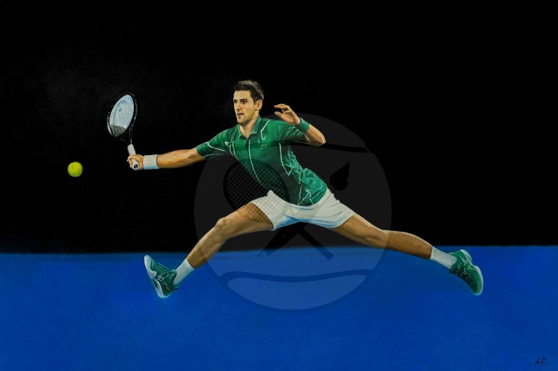 Novak Djokovic The Spiderman Oil Painting Art