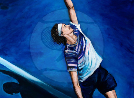 The Rocket Acrylic Art on Canvas Alexander Zverev Germany | The Berlin Tennis Gallery