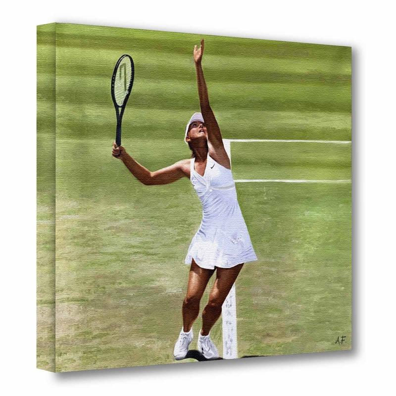 The Top Model Athlete  - Oil on Canvas Maria Sharapova Russia
