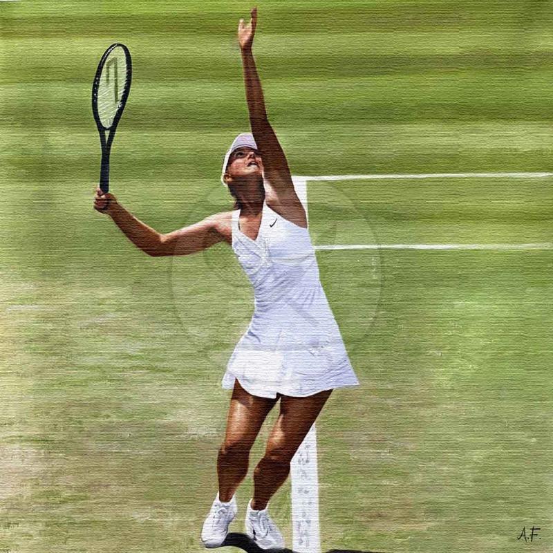 Maria Sharapova, Russia. Oil painting.