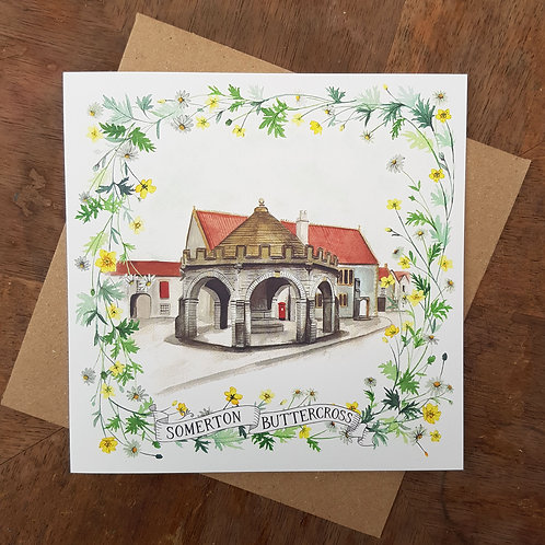 Somerton Buttercross Greeting Card